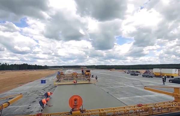 Construction of a new runway.