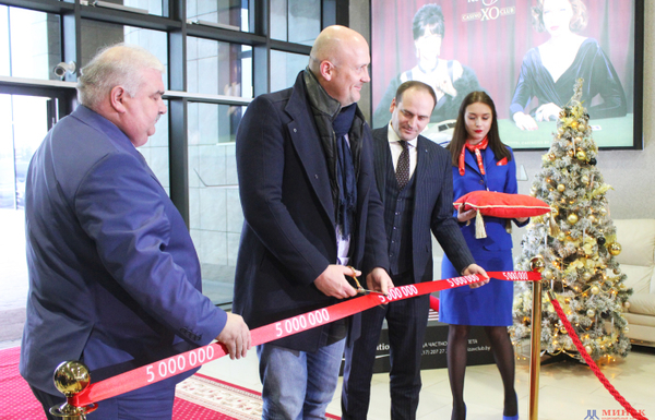 Minsk National Airport  welcomed its five millionth passenger